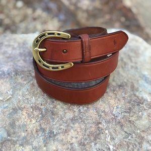 VTG 90s Polo Ralph Lauren Leather Belt, Size 36/90